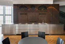 """Kitchenette for undconsorten / Havnig a break in style.Together with the interior designers of Reuter Schoger architects, we were allowed to realise a beautiful contrasting kitchenette for Berlin based design consultancy """"undconsorten""""."""