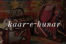 Kaar-e-Hunar / Bags, shoes and journals made out of Antique rugs and genuine leather.