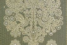 Russian lace / Russian lace is a bobbin tape lace. The tape is made with bobbins at the same time as the rest of the lace, curving back on itself, and joined using a crochet hook. It was made in Russia, but similar laces made elsewhere are also called Russian  lace.