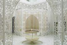 Lace - in architecture, interior