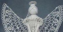 Lace - crochet angels