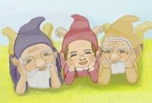 Gnomes & Fairys for kids / Gnome and Fairy books, artwork,  & gardening ideas