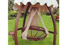 Outdoor relaxation, hammocks