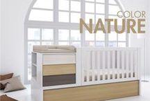 COLOR NATURE / Muebles infantiles, cunas convertibles y habitaciones para bebés de diseño y con un encanto especial gracias a su color NATURE.  Tan natural como la vida misma. ¡Disfrútalos!