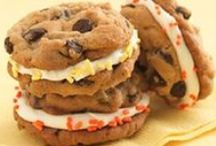 biscuits,  cookies  and  brownies / Biscuit is a term used for a variety of baked, commonly flour-based food products. The term is applied to two distinct products in North America and the Commonwealth of Nations and Europe.