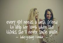 Best friends! <3 / you'll never face it alone!