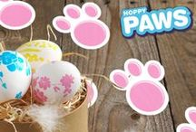 Easter Celebration / Craft, Recipe and Decorating Ideas to help you and your family have a Hoppy Easter. Don't forget the Hoppy Paws Easter Bunny Paw Print Stamp Kit for even more Easter fun. www.hoppypaws.com