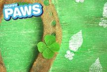 St. Patty's Day / Fun ideas for a magical St. Patrick's Day! Find Leprechaun Footprint Stamp Kits  for even more magic at Hoppy Paws. www.hoppypaws.com