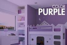 PURPLE CHILDREN'S ROOMS / Para los amantes del color violeta, disfrutaréis con todos estos muebles infantiles, habitaciones y cunas convertibles para bebés diseñados con color purple. ¡Descubre el mundo de Violeta!