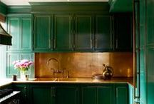 Daring kitchens / Accompanying a BLOG on kitchen design, some wonderful kitchens from a decorative perspective as we attempt to inspire you to consider options beyond white & grey!
