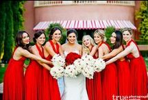 A Red Wedding / Red is a bold color that will make a statement out of any wedding!