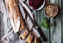 Food styling-Bread, crackers and pancakes