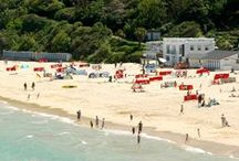 Great British beaches. / Wonderful British beaches in England, Wales and the UK. Some  famous, some less know, but all worth a day trip, romantic weekend, or family holiday. In Monaco Beach swimwear naturally!