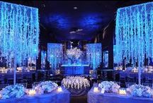 A Blue Wedding / Blue is one of the most popular and beautiful wedding colors out there!