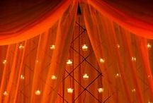 An Orange Wedding / Orange is the sign of a bright, vibrant marriage, Let it begin that way!