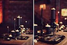 A Black Wedding / Black is an elegant color for an elegant wedding!