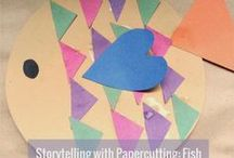 Storytelling with Papercutting / Here are some stories you can do while cutting paper. Your scissor movements and what your paper ends up as have something to do with the story. The children love listening and watching as the story unfolds. They also love it when they get their own turn to cut the paper, retelling the story as they go along.