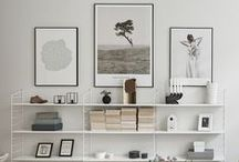 Gallery Wall Inspiration / Reasons to use printable art!