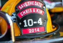 Thin Red Line Wedding / firefighters wedding ideas, thin red line, wedding inspiration