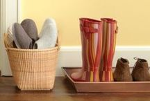 Organised Entry and Halls / Enjoy the entry to your home more with these organising tips.