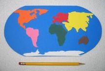 Pomůcky a tvoření do školky - zeměpis / Vyrobené pomůcky, které máme doma, a nápady na tvoření na téma kontinentů nebo konkrétních zemí