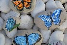 pebbles and stones - Butterfly 2