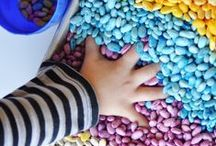 Kids Sensory Exploring / Everything to do with sensory exploring! #sensorybins #sensory #colorrice