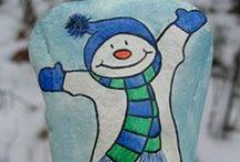 pebbles and stones - Snowman