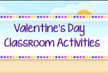*Valentine's Day Classroom Activities / NO LONG PINS. This is a collection of fun stuff and files that promote core standards for Valentine's Day. TWO paid/freebies daily.