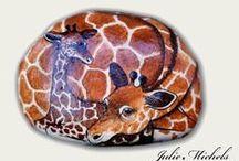pebbles and stones - Giraffe