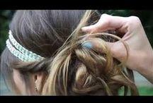 TUTO HAIRSTYLE / Tutoriel/ vidéo/ hair style/ coiffure/ wedding/ headband / mariage/ chignon romantique/ idées coiffures / mariée / cheveux  /bred  /peigne  www.les-frangines.fr