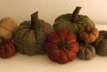Fabric Pumpkins / Love them. Original comments.