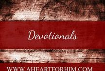 Christian Devotionals / Christian Devotionals for inspiration, encouragement, and thought from a biblical perspective