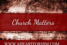 Church Matters / Topical Issues regarding the institutional church