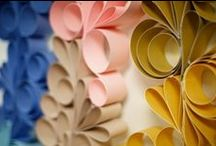 Make your own SHIMMER Paper Scrolling Garland Accents or Decor / This is an amazing little project that can produce such a lovely result with its possibilities being almost endless. It can be made to look formal, elegant or fun and playful. You decide, just by changing your paper. / by Paper-Papers