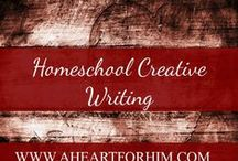 Homeschool Creative Writing / Ideas, Writing Exercises, Activities to teach kids of all ages how to write creatively