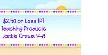 ***$2.50 or LESS TPT Teaching Products K-8 Jackie Crews / Pin Three PRODUCT PINS PAID OR FREE daily.   DELETE old pins before re-pinning.  Feel free to invite your friends.