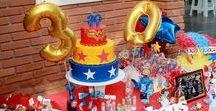 festa mulher maravilha / Tá pensando em fazer uma festa temática e não tem ideias suficientes? Aqui você vai ver como fazer uma Festa da Mulher Maravilha (Wonder Woman) para adulto - 30 anos