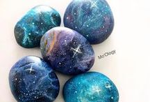 pebbles and stones - Galaxies and constellations