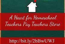 A Heart for Homeschool TpT Store / Worksheets, printable, activities for homeschoolers