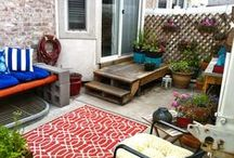 Pretty Patio / Making the most out of the little space I have / by Tracy Mills