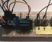 ESP Easy (Rules) : consigne pour thermostat connecté / Consigne pour thermostat connecté. La consigne est augmentée ou diminuée avec un pas de 0.5° à l'aide de 2 boutons. Un écran OLED SSD1306 permet d'afficher la température courante depuis un serveur domotique par exemple (Jeedom, Domoticz)...
