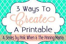 DIY & School Printables