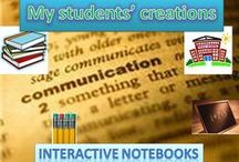 Interactive Notebook Samples / A collection of my students' art works for the English Interactive Notebook.