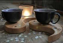 Wooden cup pads by Projekt Drewno / Handmaded wooden cup pads.