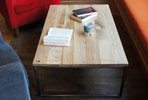 "Coffee table ""INDUSTRIAL"" / Handmade wooden coffee table in industrial style."