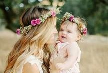 mommy + me / beautiful mommy and baby photos || capturing the beautiful expression shared between mother and child in a simple bohemian style.