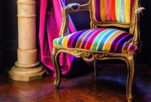 Chairs, armchairs... Colorful / by Margaret S