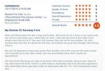 Raceway Ford Rave Reviews! / We here at Raceway Ford have the very best customers in Southern California, and they show why here! :) / by Raceway Ford