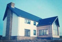 Ty Glan Y Mor / A replacement dwelling of masonry construction heated vier a ground source heat pump situated on the northern shores of Anglesey, North Wales.